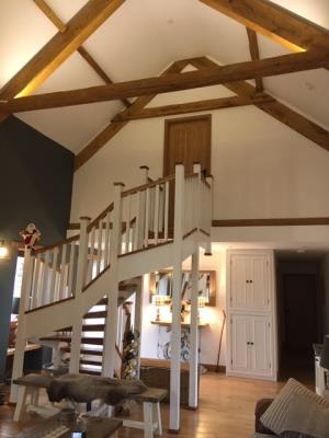 Fedw ceiling beam staircase